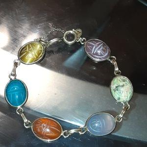 12 GF Vintage Scarab Bracelet
